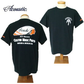 【SALE・セール】 アコースティック Tシャツ ACOUSTIC メンズ Custom Made Parts 半袖Tシャツ ac9203 -ブラック