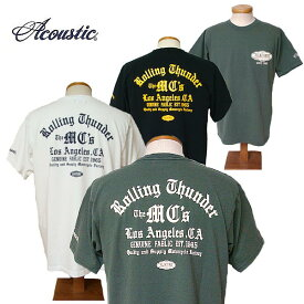 【SALE・セール】 アコースティック Tシャツ ACOUSTIC メンズ Rolling Thunder 半袖Tシャツ ac9213