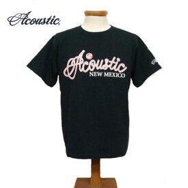 【SALE・セール】 アコースティック Tシャツ メンズ ACOUSTIC ROPE LOGO 半袖Tシャツ ac7201 -ブラック