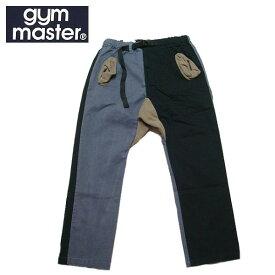 【SALE・セール】 gym master ジムマスター ストレッチヘリンボーン クライミングパンツ 9分丈 アンクルパンツ g843391 -ブラックxチャコール・クレイジー