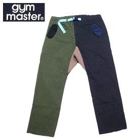 【SALE・セール】 gym master ジムマスター ストレッチヘリンボーン クライミングパンツ 9分丈 アンクルパンツ g843391 -オリーブxブラック・クレイジー
