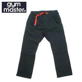 【SALE・セール】 gym master ジムマスター ストレッチヘリンボーン クライミングパンツ 9分丈 アンクルパンツ g843391 -ブラック