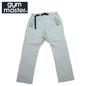 【SALE・セール】 gym master ジムマスター ストレッチヘリンボーン クライミングパンツ 9分丈 アンクルパンツ g843391 -グレー