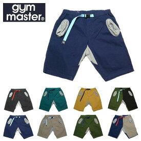 【SALE・セール】 gym master ジムマスター ショートパンツ ストレッチ ヘリンボーン クライミング メンズ ショーツ G943393