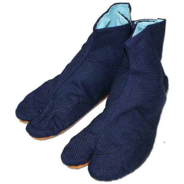 お祭用品/地下足袋 きねや無敵地下足袋 5枚こはぜ 刺子 [藍染め] 22.0cm〜27.0cm タビ/たび