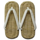 細幅白はなお、鉄金具付きタイヤ底の祭草履。【お祭り用品】草履竹皮表