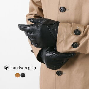HANDSON GRIP(ハンズオングリップ) ファム+ / メンズ / 手袋 / ウォッシャブル / レザーグローブ / 本革 / POLARTEC / 日本製 / FAM+