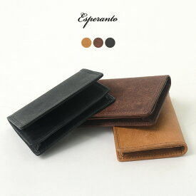ESPERANTO(エスペラント) プエブロレザー カードケース / メンズ / レディース / 日本製 / 名刺入れ / イタリアンレザー / PUEBLO LEATHER CARD CASE / 母の日 ギフト