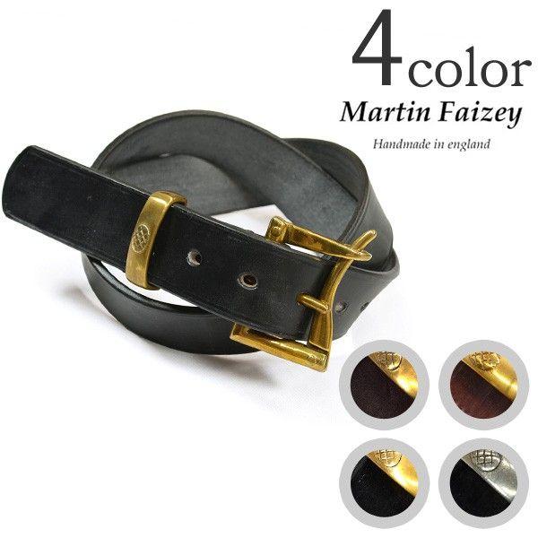 【期間限定!5%OFFクーポン】MARTIN FAIZEY (マーティンフェイジー)1.5インチ(38mm)クイックリリースベルト レザーベルト / メンズ / 英国製/1.5 INCH QUICK RELEASE BELT
