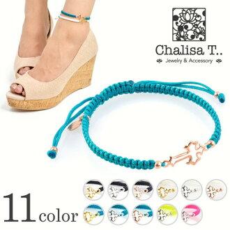 腳鐲和銀十字諾丁代碼 / 婦女 / CHALISA T.。 (Chrissa-茶)