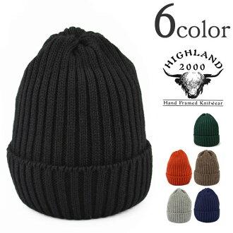 HIGHLAND 2000(高原2000)羊毛编织物盖子/值班盖子/编织物便帽/不列颠羊毛/人分歧D/英国制造/WOOL WATCH CAP