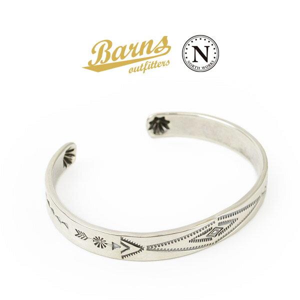 BARNS(バーンズ)×NORTH WORKS(ノースワークス) スターリング シルバー バングル / メンズ / レディース / シルバー925 / 日本製 / BR-6964