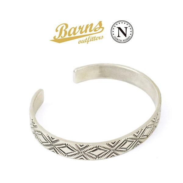BARNS(バーンズ)×NORTH WORKS(ノースワークス) スターリング シルバー バングル / メンズ / レディース / シルバー925 / 日本製 / BR-6965