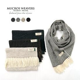 MUCROS WEAVERS(マクロスウィーバーズ)アルパカ スカーフ / マフラー / ヘリンボーン / ストライプ / メンズ / レディース