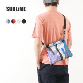【2点以上で10%OFFクーポン】SUBLIME(サブライム)コーティングラップ バッグ / ショルダーバッグ / トートバッグ / ウェストポーチ / バッグインバッグ / メンズ レディース / COATING WRAP BAG S