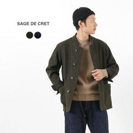 【期間限定ポイント10倍】SAGE DE CRET(サージュデクレ) メルトン マオカラージャケット / メンズ / ウール / 日本製 / MELTON MAO COLLAR JACKET