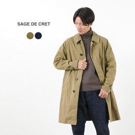 SAGE DE CRET(サージュデクレ) P/C ツイル ステンカラーコート / メンズ / コットン ポリエステル ツイル / 日本製 / P/C TWILL SOUTIEN COLLAR COAT / liou