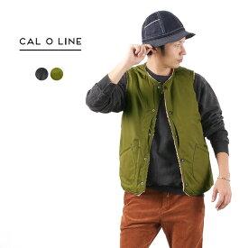 CAL O LINE(キャルオーライン) ブラックホール ボアベスト リバーシブル / 撥水 / インナーベスト / メンズ / 日本製 / BLACK HOLE BOA VEST