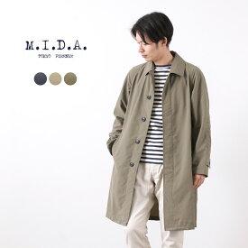 M.I.D.A.(ミダ) ウェラー ステンカラーコート / メンズ / スプリングコート / ナイロン 撥水 / WELLER