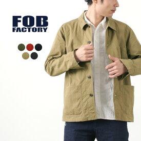 FOB FACTORY(FOBファクトリー) F2394 フレンチ シャツジャケット / 長袖 / メンズ / 日本製 / FRENCH SHIRT JACKETSHIRT COAT / rnd / lio2