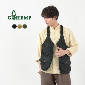 GOHEMP(ゴーヘンプ) ヘンプ ユーティリティ ベスト / メンズ / ヘンプ コットン / ウェザークロス / GHJ6119WTS21 / HEMP UTILITY VEST