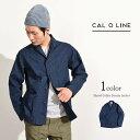 CAL O LINE (キャルオーライン) ショールカラー デニムジャケット / USネイビー / カバーオール / メンズ / 日本製 / SHAWL COLLAR DENIM JACKET / l