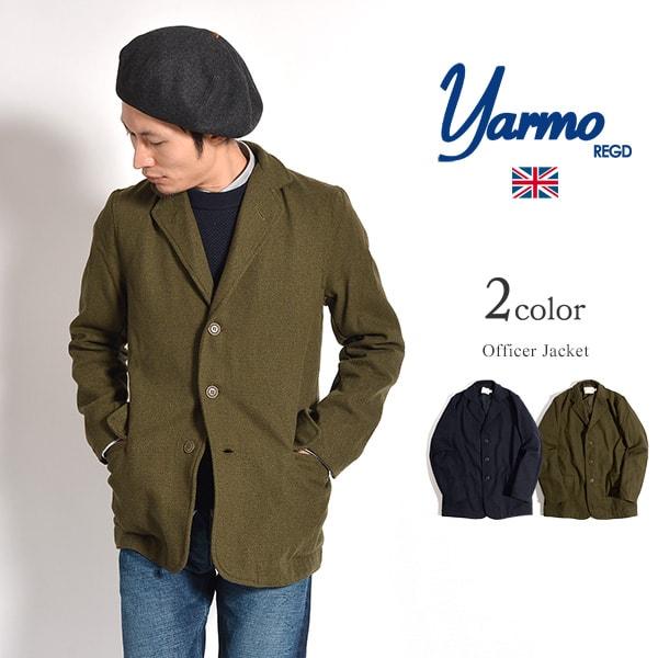 【限定クーポン対象】YARMO(ヤーモ) オフィサージャケット / メルトン ウール / ドビー織り / テーラードジャケット / メンズ / イギリス製
