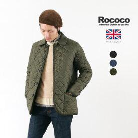 【期間限定ポイント10倍】ROCOCO(ロココ) マンチェスター ショーティー キルティング ジャケット / 中綿 / メンズ / イギリス製