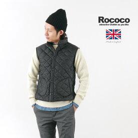 【期間限定ポイント10倍】ROCOCO(ロココ) マンチェスター キルティング ベスト / 中綿 / フリースライニング / メンズ / イギリス製