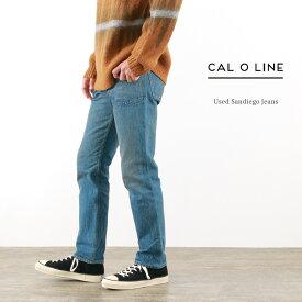 【30%OFF】CAL O LINE(キャルオーライン) サンディエゴ ジーンズ ユーズド / デニム / スリム / メンズ / 日本製 / USED SAN DIEGO JEANS【セール】