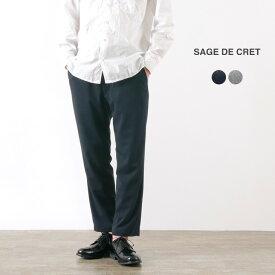 【スーパーSALE限定クーポン対象】SAGE DE CRET(サージュデクレ) サイロトロ 9分丈 イージーパンツ / アンクルカット / ストレッチ / メンズ / 日本製