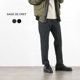 SAGE DE CRET(サージュデクレ) 2WAYストレッチ 9分丈 テーパードパンツ / メンズ / ツイル / 日本製 / 2WAY STRETCH 9/10 length TAPERED PANTS
