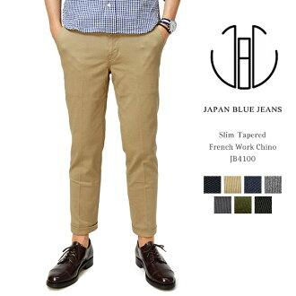 JAPAN BLUE JEANS(日本牛仔裤)JB4100/卡其色系短裤人/小直筒裤法式工作奇诺裤子裤子/伸展/冈山日本制造