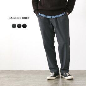 SAGE DE CRET(サージュデクレ) 2WAYストレッチ テーパードパンツ / メンズ / ツイル / 日本製 / 31-00-8188 / 2WAY STRETCH TAPERED PANTS