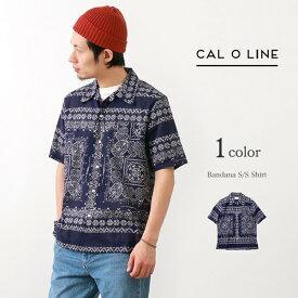 【32%OFF】CAL O LINE(キャルオーライン) バンダナ 半袖 シャツ / オープンカラー 開襟 / メンズ / 日本製 / BANDANA S/S SHIRT【セール】