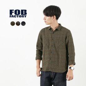 FOB FACTORY (FOBファクトリー) F3437 ネルチェック ワークシャツ / メンズ / チェック / 長袖 / コットン / 日本製 / NEL CHECK WORK SHIRT / cck