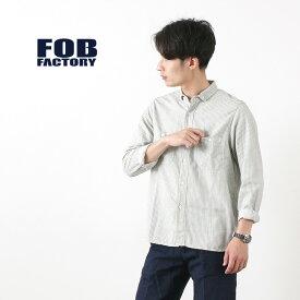 【30%OFF】FOB FACTORY (FOBファクトリー) 別注 FRC002 ミニ B.D ヒッコリー ワークシャツ / メンズ / ストライプ / 長袖 / コットン / 日本製【セール】