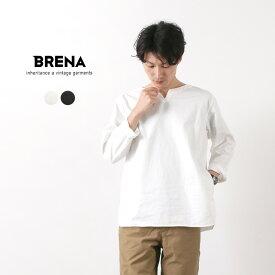 BRENA(ブレナ) コットンリネン ワッシャーカルゼ キーネックシャツ / メンズ レディース / 長袖 無地 / 日本製 / KEY-NECK SHIRT