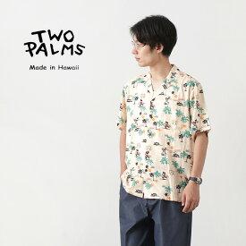 TWO PALMS(トゥーパームス) ハワイアンシャツ / レーヨン / ディズニー柄 / ミッキー / 半袖 / メンズ レディース / S/S HAWAIIAN SHIRT/RAYON VINTAGE ALOHA