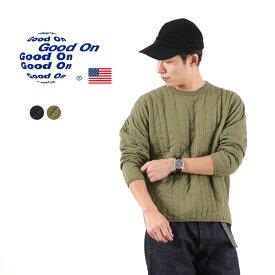 GOOD ON(グッドオン) ロングスリーブ パデッド Tシャツ / メンズ / 長袖 / ミリタリー / キルティング / アメリカ製生地 / 日本製 / GOBW1906 / LS PADDED TEE