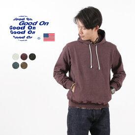 GOOD ON(グッドオン) ヘビー プルオーバー フードスウェット / メンズ / 長袖 / 無地 / ピグメントダイ / アメリカ コットン / 日本製 / HEAVY PO HOOD SWEAT / GOBW1913
