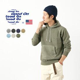GOOD ON(グッドオン) カラー別注 ラグラン プルオーバー フード スウェット / パーカー / メンズ / 無地 / ピグメントダイ / アメリカ製生地 / 日本製 / GOBW1203P