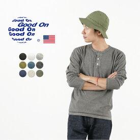 GOOD ON(グッドオン) ロングスリーブ ヘンリーネック Tシャツ / メンズ 長袖 無地 / ピグメントダイ / アメリカ製生地 / GOLT1601 / 日本製