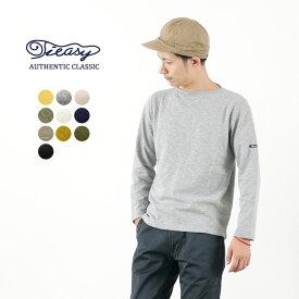 TIEASY(ティージー) HDCS オーガニック ボートネック バスクシャツ / 無地 ソリッド / コットン Tシャツ 長袖 / メンズ / 日本製 / HDCS BOATNECK BASQUE SHIRT