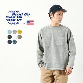 GOOD ON(グッドオン) ヘビー ラグラン ポケット Tシャツ ロングスリーブ / メンズ 長袖 無地 / ピグメントダイ / アメリカ製生地 / 日本製 / GOLT1805 / LS HVY RAGLAN PK TEE