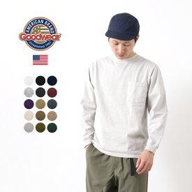 GOODWEAR(グッドウェア) クルーネック ポケット Tシャツ 長袖 / ロンT 無地 / ヘビーオンス 厚手 / メンズ / アメリカ製