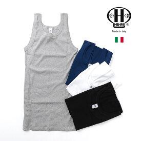 【40%OFF】HENRI(エンリ) リブ タンクトップ インナー / メンズ / イタリア製【セール】