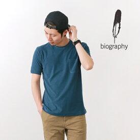 【ラスト1点】【30%OFF】BIOGRAPHY(バイオグラフィー) アフターサーフ Tシャツ ミクロパイル / クルーネック / 半袖 メンズ / 日本製 / AFTER SURF TEE【セール】