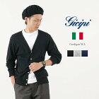 GICIPI(ジチピ) コットンカーディガン / カットソー / コットンニット / 長袖 無地 / メンズ / イタリア製 / CARDIGAN M/L