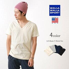 【41%OFF】WALLA WALLA SPORT(ワラワラスポーツ) ベーシック Vネック Tシャツ / 半袖 / メンズ / アメリカ製【セール】
